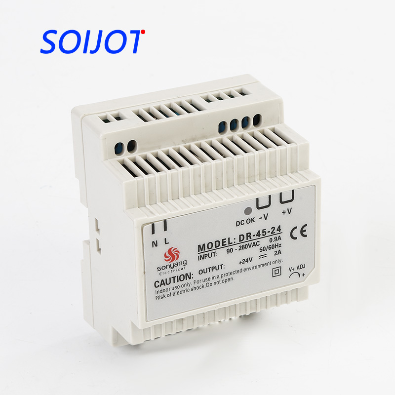 DR-45 Din Rail Power Supply 45W 12V 3A,Switching Power Supply AC 110v/220v Transformer To DC 12v,ac dc converter low price switching power supply led din rail mounted power supply transformer 110v 220v ac to dc 5v 12v 15v 24v 48v 45w output