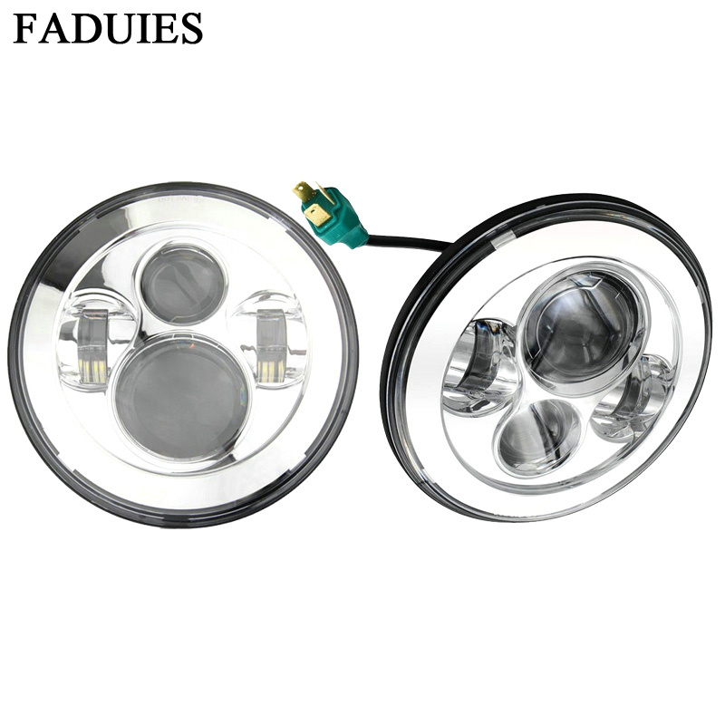 FADUIES 2tk 7 'ümarad esitulelaternad Led h4 Esituled 7-tollised Led-esituled 12V 24 V-d Jeep-kojameestele