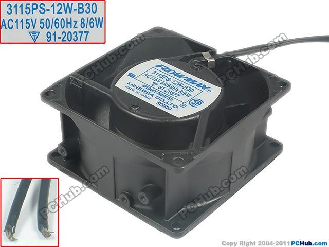 NMB-MAT 3115PS-12W-B30 AC 115 V 8 W 80x80x38mm serveur refroidisseur ventilateur