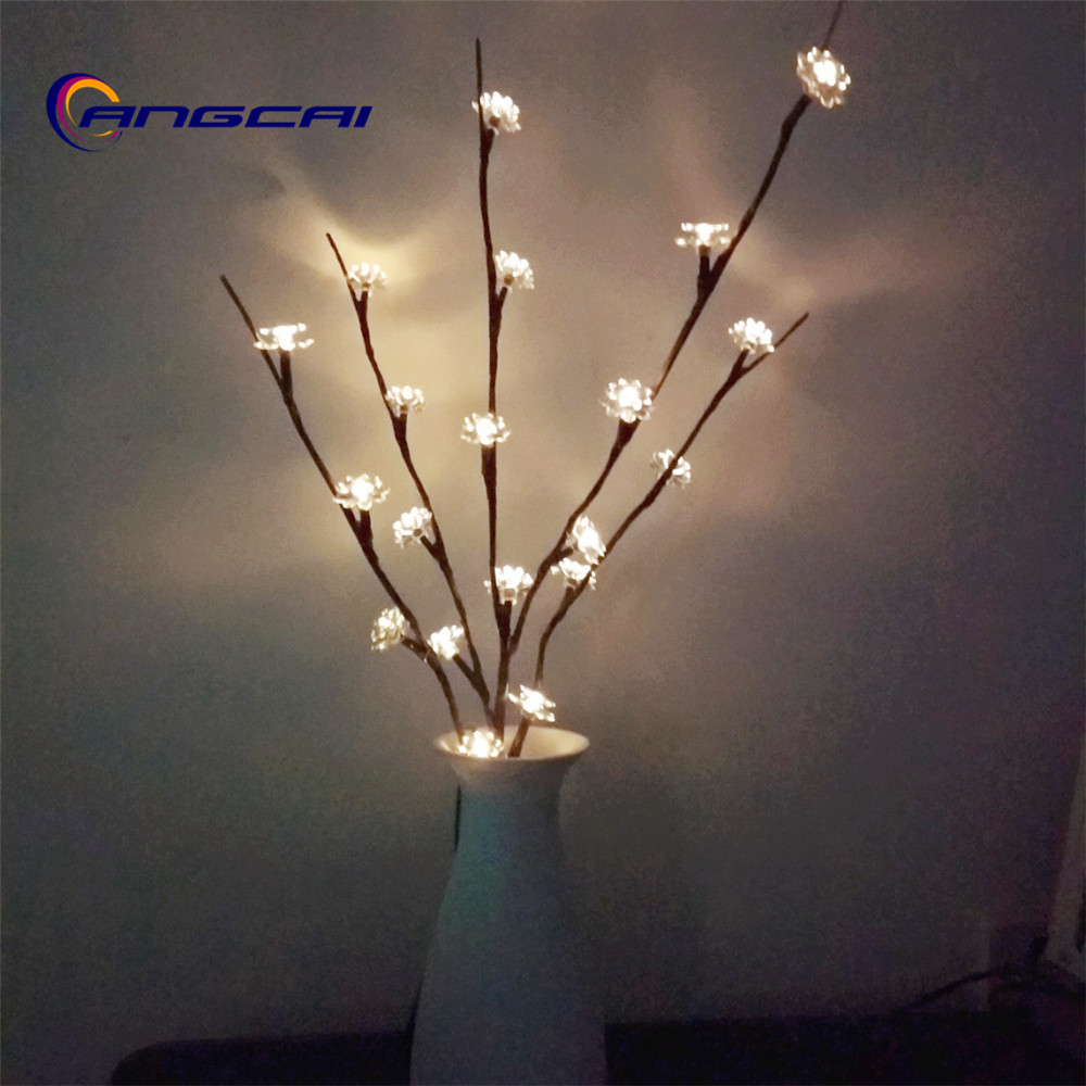 US $6.6 12% OFF|20LED bulbs Lotus flower bud Branch lights string Willow  Twig Lighted Branch Home Patio wedding bedroom Decor-in Holiday Lighting  from ...