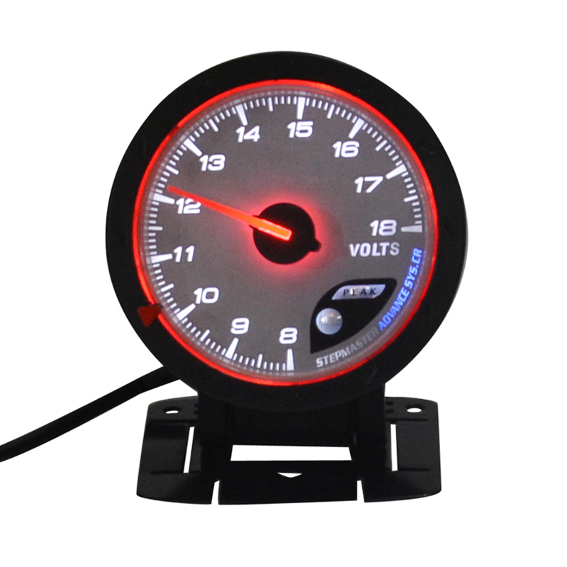 Dragon Gauge 60mm Auto Car motorcycle Motorboat Volt gauge voltage Meter  Stepping Motor Self Check function Free shipping