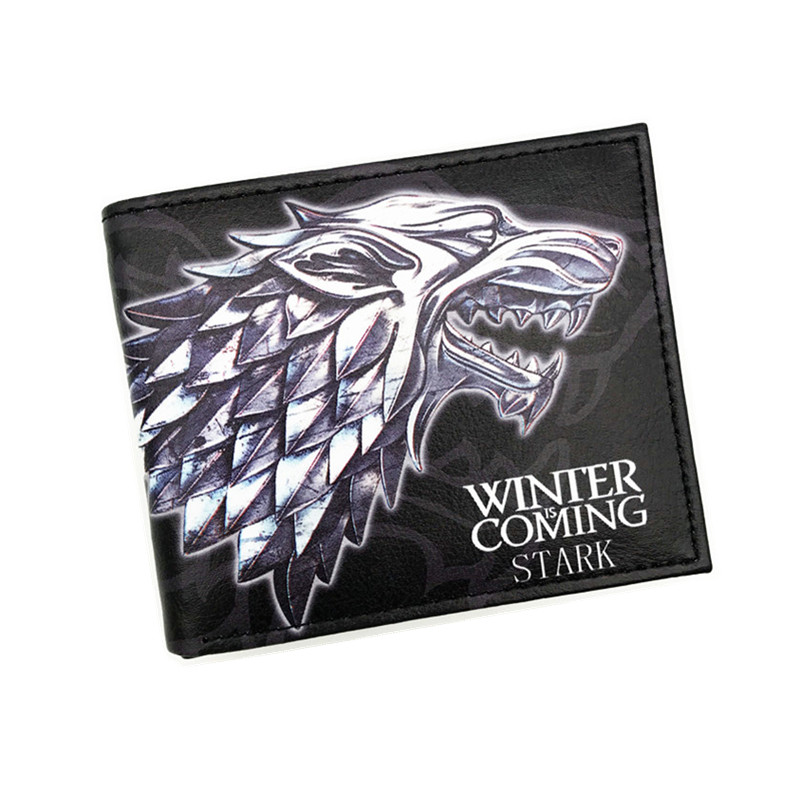 New PU Leather Wallet Game of Thrones Short Wallets With Card Holder Men And Women Purse Cartoon Wallet Dollar Price hot 2017 world of warcraft wallets cartoon anime purse gift for young students pu leather dollar bags casual short wallet