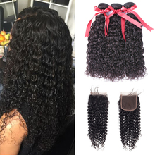 hot deal buy beaudiva curly bundles with lace closure brazilian human hair bundles with closure non remy hair extensions bundles with closure