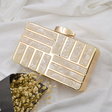 New evening clutch bags shell pattern acrylic womens clutch bags and purses envelope clutch purse hardware women bag hard box box clutch purse