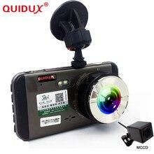 QUIDUX 2018 Новый 4,0 »Видеорегистраторы для автомобилей Камера Full HD 1296 P LDWS/FCWS Двойной объектив dashcam видео рекордер CCD ночного видения регистратор MSC8328P