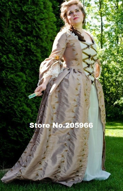 Custom Made Colonial 18th Century Rococo Dress Gown 1700s Marie Antoinette outfit Gown /Party Dress/Event Dress