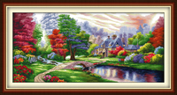 The Ambilight cross stitch kit 18ct 14ct 11ct count printed canvas stitching embroidery DIY handmade needlework
