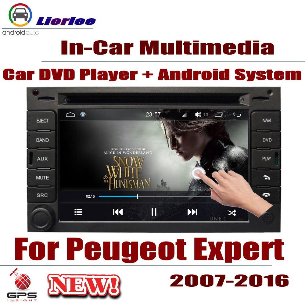 Pour Peugeot Expert 2007-2016 lecteur Android de voiture DVD GPS système de Navigation HD écran Radio stéréo intégré multimédia