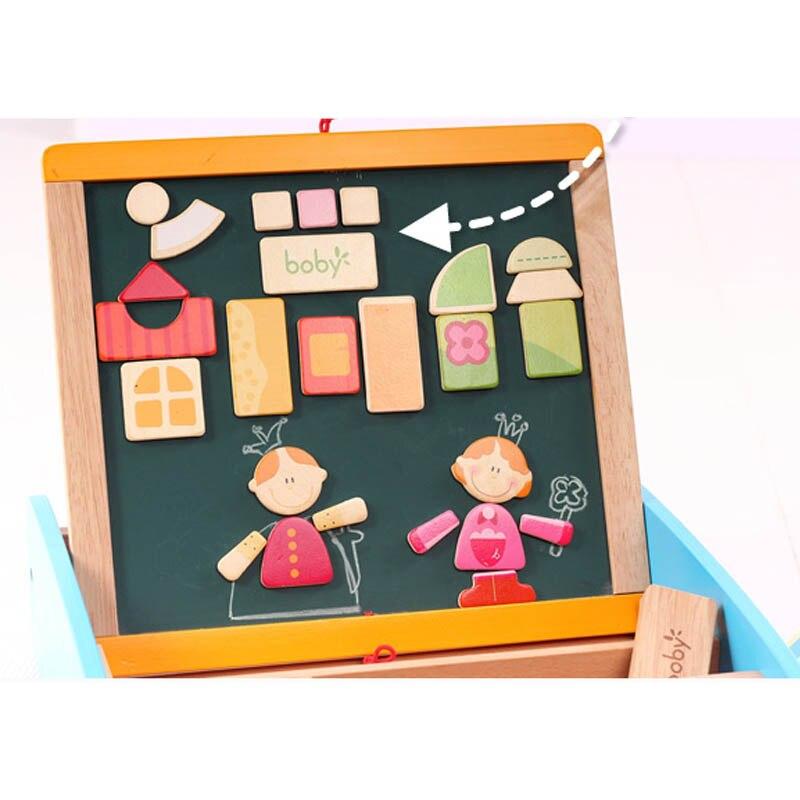 Reißbrett Zu Neue Jahr Die Magnetische Tafel mit Abacus Holzspielzeug Für Kinder Weihnachtsgeschenk für Kinder - 4