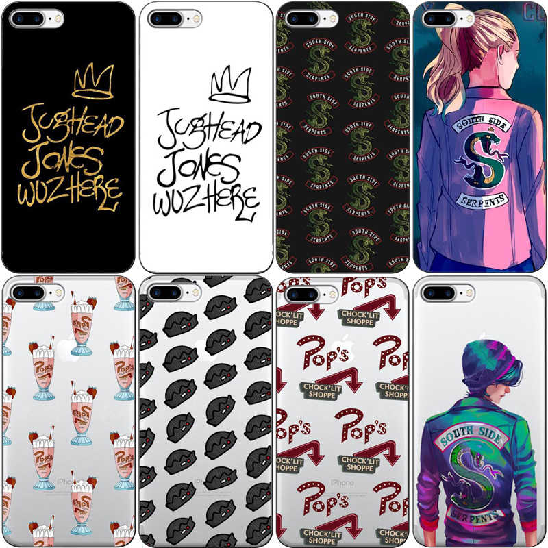 American TV Riverdale Painted soft TPU  Phone Case Cover For iPhone 11 11PRO MAXX 10 6 XR XS MAX  8 Plus Fashion Coque Capa Case