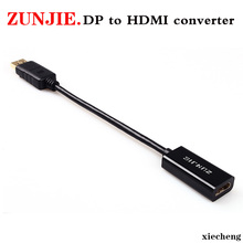 Zunjie DP To HDMI Male Female Converter 4k/2k Display Port To HDMI Adaptor Displayport hdmi 4k For Macbook HDTV Projector Convor