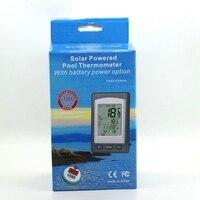 Solaire Alimenté Sans Fil Piscine Thermomètre De Bain SPA Étang Baignoire Numérique LCD Flottant Température Mètre Vert Rétro-Éclairé Étanche 100 M