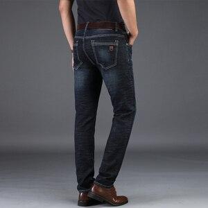Image 4 - NIGRITY 2019 Nuovi Jeans Da Uomo Intelligente Casual Jeans Regular Fit Straight Leg Elasticità Dei Jeans 8932 Lungo Tratto Pantaloni Big Size 42