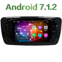 "7"" HD Audio 2GB RAM Quad Core Android 7.1 Multimedia 4G BT Car DVD Player Stereo Radio GPS Navi Screen for Seat Ibiza 2009-2014"