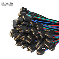10pairs RGB 4pin Female Male Connector Cable Wire For 5050 3528 RGB Led Strip 4 Pin