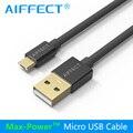 Aiffect 1 m 1.5 m cabo micro usb sincronização de dados usb fio 5 v 3a carregador de carga rápida para samsung htc sony cabo
