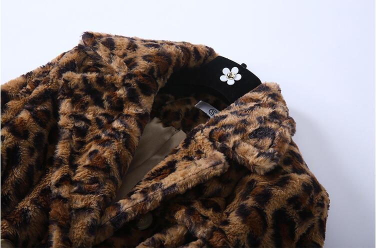 Léopard 2018 Hiver D953 Style Européen Manteaux Femmes Chaleur Leopard Manteau qv55SwIf