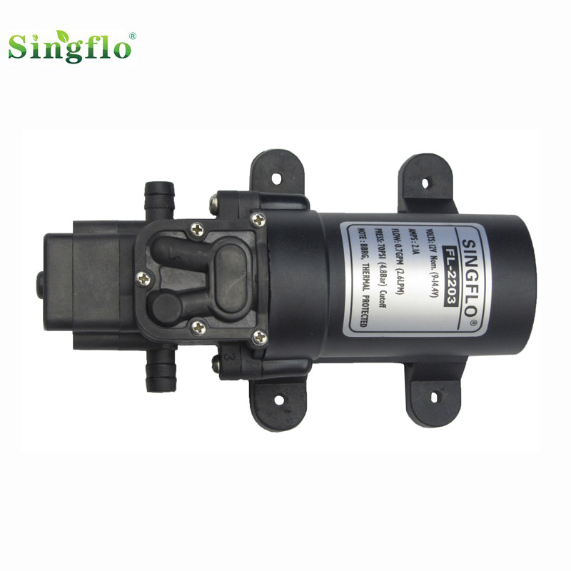 DHL free ship FLO 2203 12V 70PSI 2 6LPM mini diaphragm water pump for agriculture irrigation