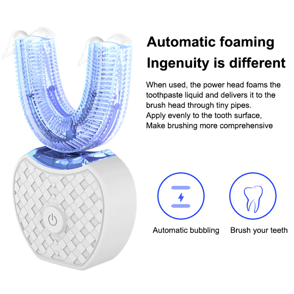 U 360 Wave Brush Ultrasonic Automatic Electric Sonic Toothbrush Wireless inductive charging Silicone Tooth Brush Oral Cleaner