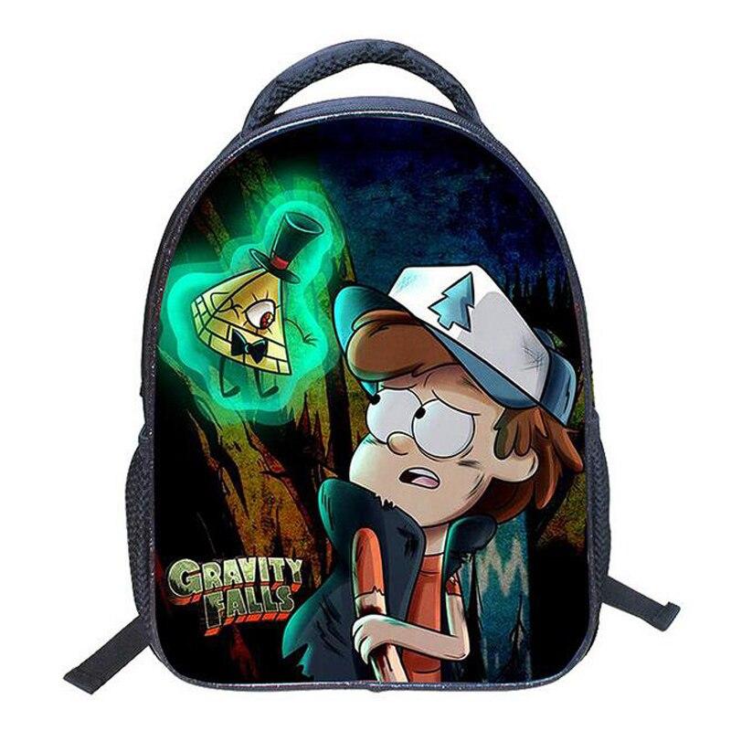 Small Children Backpack Anime Gravity Falls Backpack Nylon Rucksack Mohila Kindergarten School Bag Fashion Boys Girls Schoolbag