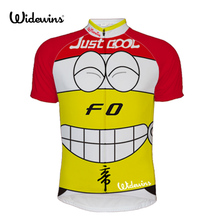 Smiling face Cycling Jersey Ropa Ciclismo F0 car Mountain Bike Clothing Short Sleeve Bicycle Clothes Pro Team Cycle Shirt 6500