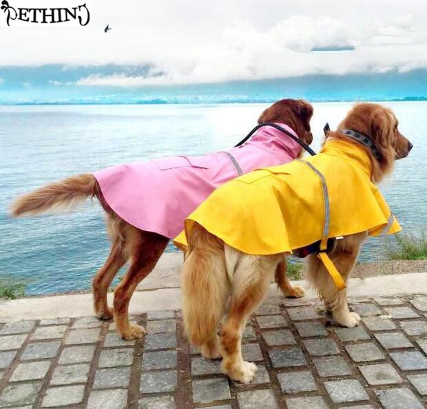 S 4XL large big dog raincoat font b Pet b font Apparel Dog Clothes Dog Raincoat