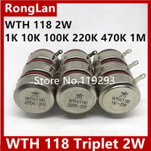 [BELLA]WTH 118 2W triple potentiometer 1K 10K 100K 220K 470K 1M–10PCS/LOT