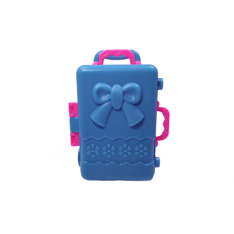 doll accesssories storage case for barbie dollhouse kids toy plastic 3d cute travel suitcase luggage trunk barbie dollhouse furniture cheap