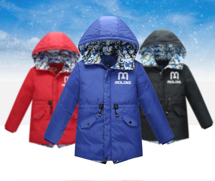 ФОТО 2016 Boys Jackets Parka winter jackets for boys/Outerwear Childen Winter Jackets For Boys Down Jackets Coats Warm Down6-13Y