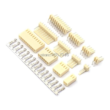 10 Set KF2510 Kits Connector2.54mm Pitch 2/3/4/5/6/7/8/9/10P Straigh Pin Header+Housing+Crimp 2510 image