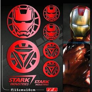 Американский Фильм Мстители, Человек-паук, Железный человек, аниме, наклейка s, металлическая наклейка, наклейка для ноутбука, телефона, авто...