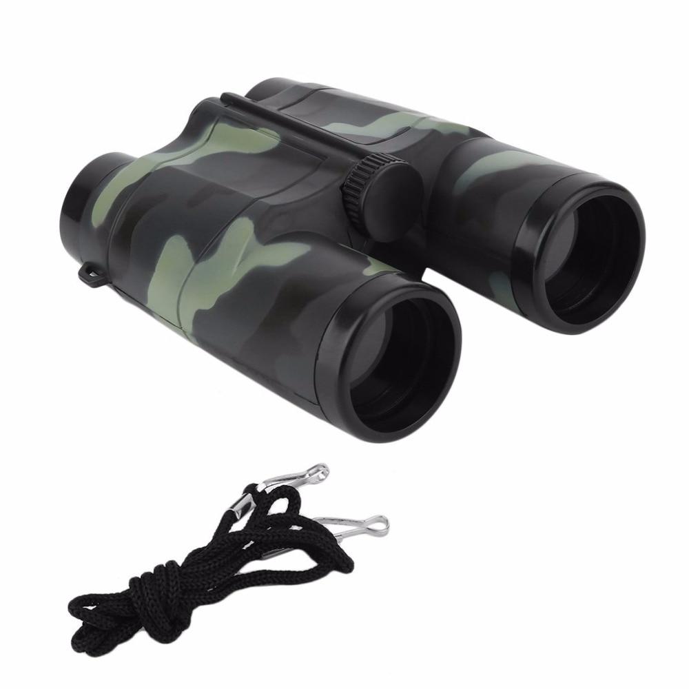 Niños plegable al aire libre Mini binoculares telescopio alcance juguete de camuflaje niños niño portátil regalo Deportes de caza gran ofertaportable scopebinoculars camouflagesport hunting -