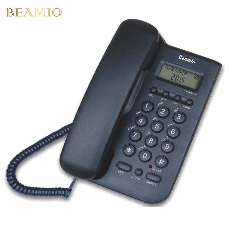 English Version Call ID Landline Telephone Wholesale Home Office Hotel Without Battery Bring Power Display Fixed Phone Black