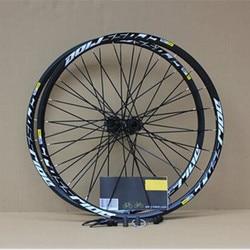 MEROCA MTB bicicleta de montaña rodamiento sellado disco de cruce juego de ruedas 26 pulgadas rueda de seis agujeros eje de bloqueo Central llanta 27,5 29