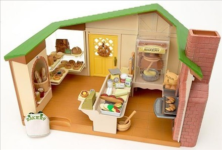 Dropshipping Genuine Sylvanian Families Watermill Bakery 1pcset
