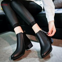 New fashion black andred Autumn Winter Women Boots Suede Female Side Zipper Boots Vintage Fashion Ankle Boots(China)