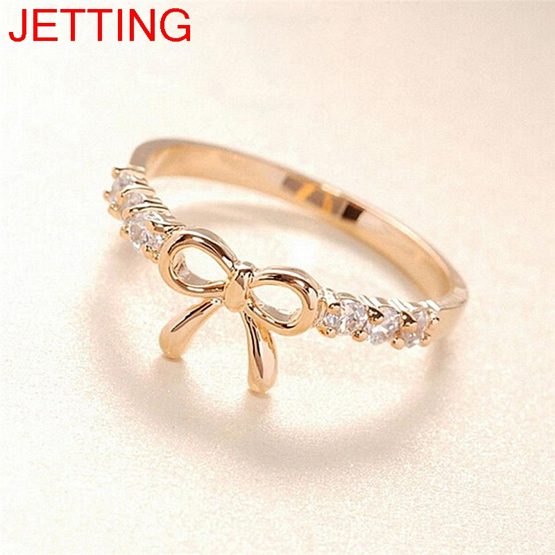Simple Crystal Bow Ring Jewelry 1Pc Fashion Rings For Women Korean Jewelry ...