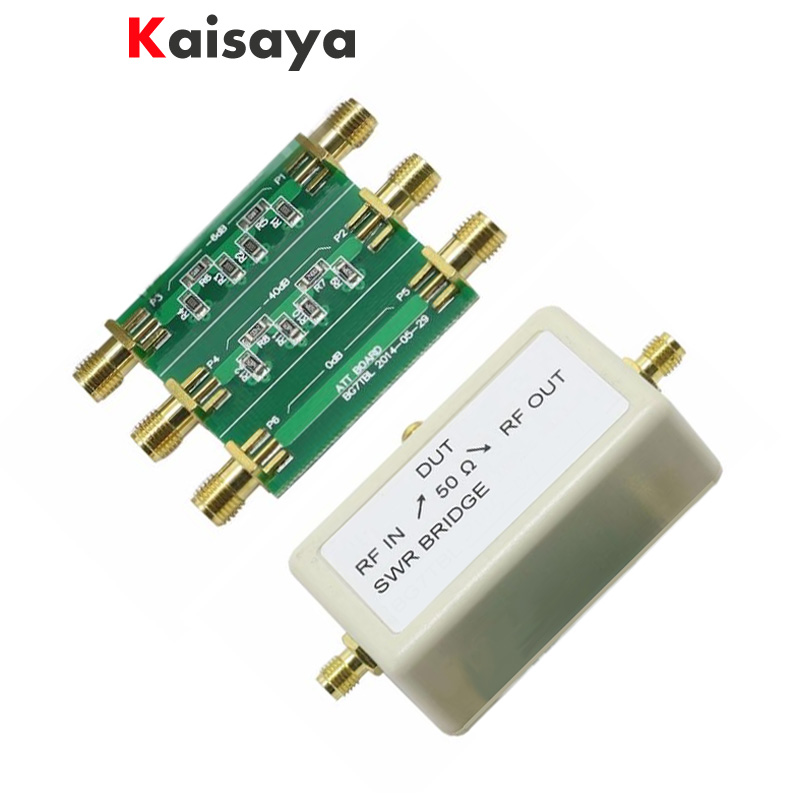 6dB 40dB Attenuator + SWR Electronic Bridge 1M-500M Standing Wave Bridge free shipping B3-006 цена