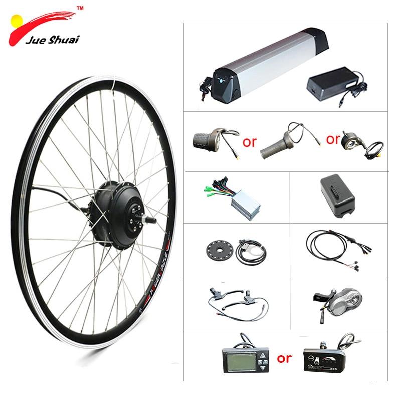 электровелосипед Наборы 36 В электро велосипед кит 250Вт - 500Вт 26 28 мотор колесо с чайник аккумулятор LED или ЖК-дисплей контроллера скутер Част...
