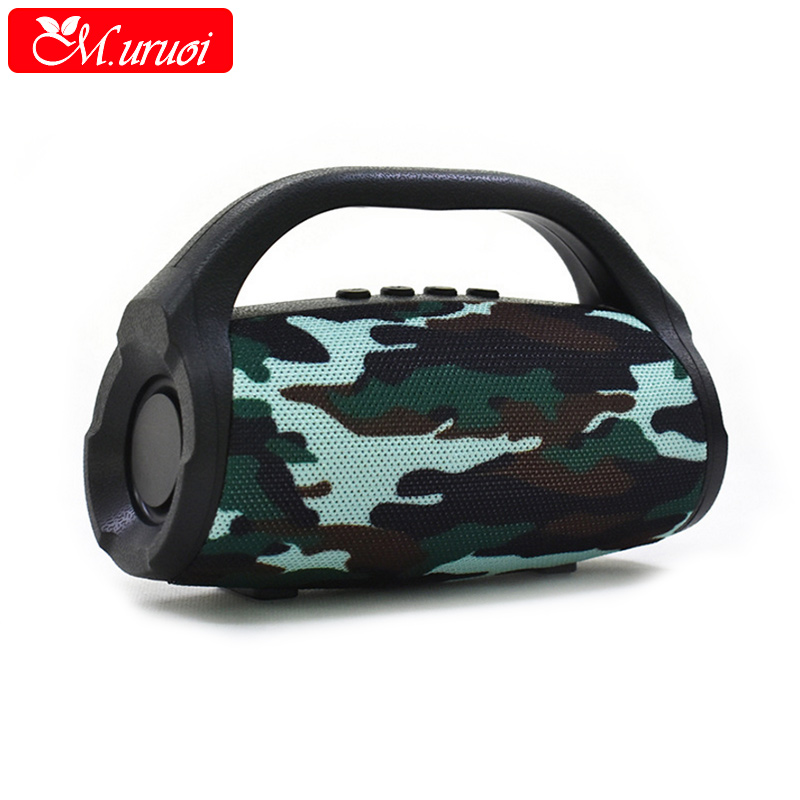 M.uruoi Portable Bluetooth Speaker Wireless Stereo Sound Boombox with Microphone Support TF AUX FM Radio Speakers For Phone PC wireless bluetooth headset neckband stereo headphone support fm radio tf card microphone sport earphone for smartphone xiaomi