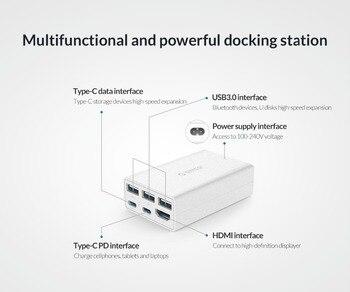 MacBox Type-C to 3-Port USB3.0 4K HDMI Type-C PD Charge Docking Station USB Hub - CPH-X4 4
