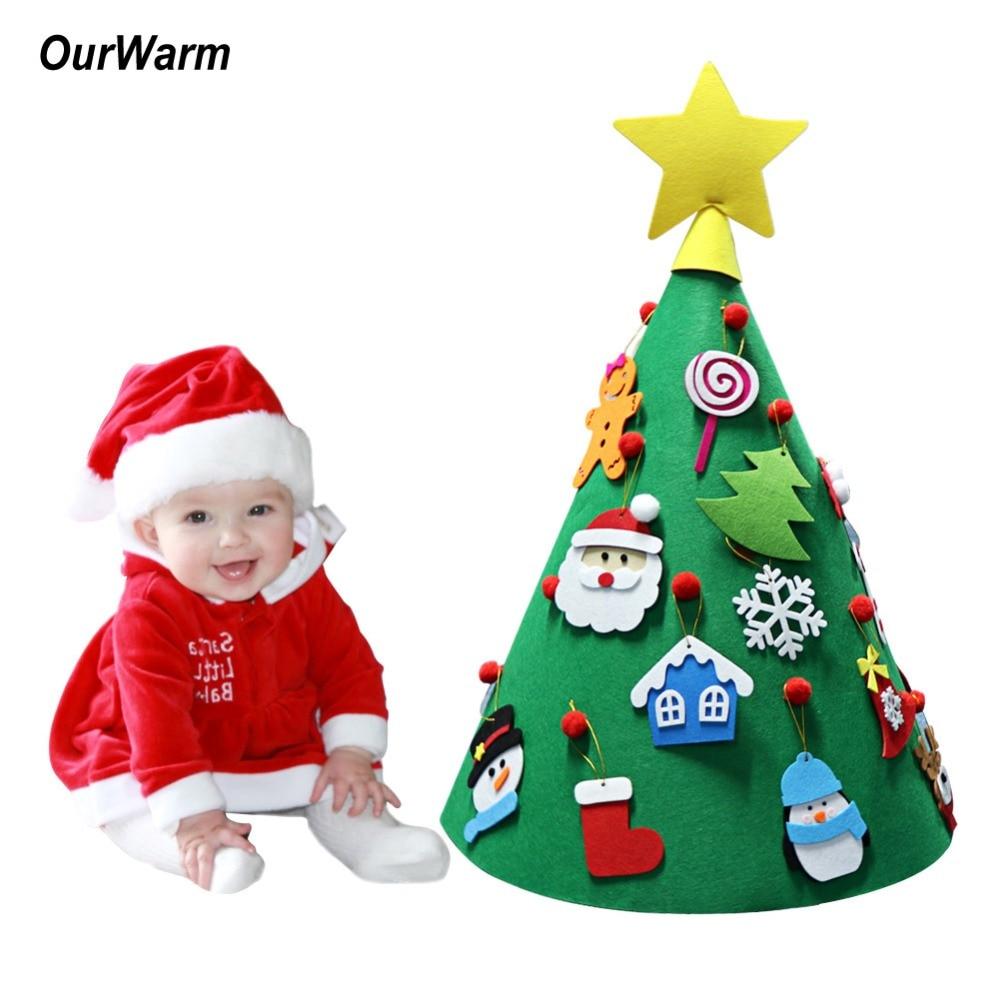 Baby Christmas Trees: OurWarm DIY Felt Toddler Floor Christmas Tree Baby Gift