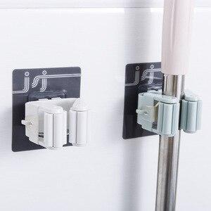 Image 1 - 1 pc 자기 접착제 벽 후크 홈 부엌 후크 흡입 컵 빨판 벽 마운트 걸레 주최자 브러시 옷걸이 욕실 액세서리