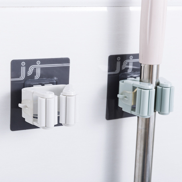 1 pc 자기 접착제 벽 후크 홈 부엌 후크 흡입 컵 빨판 벽 마운트 걸레 주최자 브러시 옷걸이 욕실 액세서리