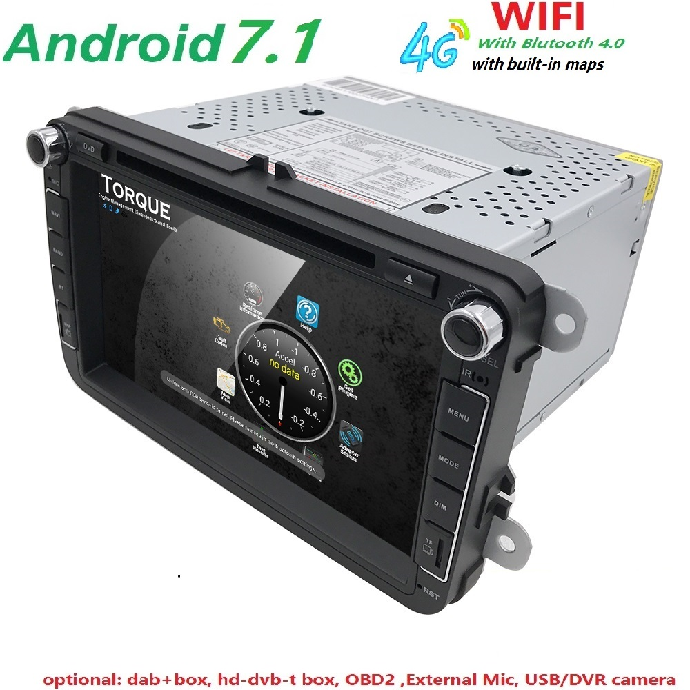 Android 7.1 2DIN Car DVD Player For VW Volkswagen Passat