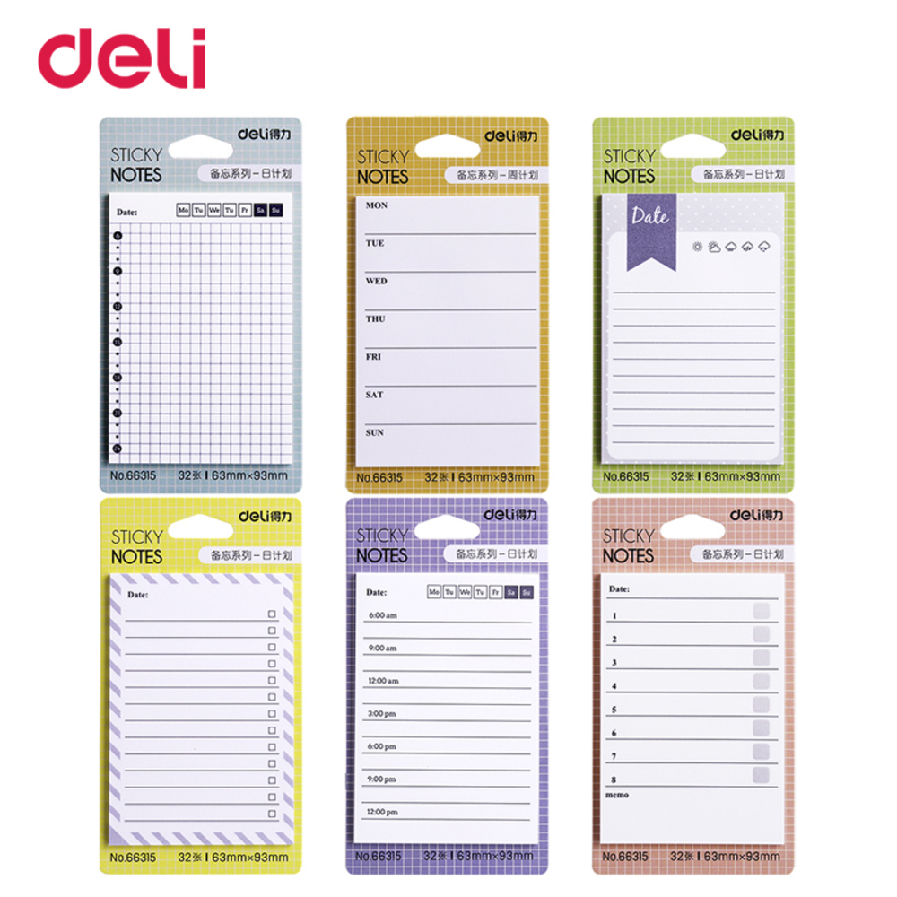 6 Style Cute Weekly Planner Memo Pad Office School Supply Kawaii Notes Post It Sticker Scrapbook Agendas Scheduler WJ-SMT125