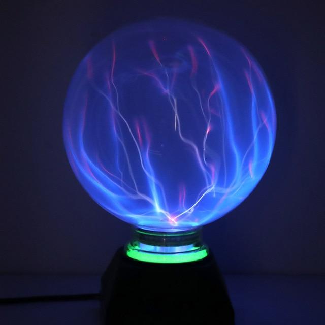 6/8 インチのプラズマボールマジックスフィアライトニングライトランプクリスタルグローブタッチ星雲ライトクリスマスパーティーデコレーションライト