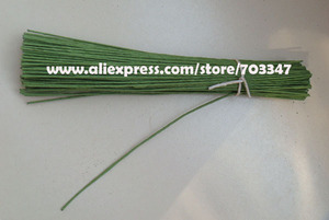 """Image 3 - Big Order Big Discount!! 600pcs X 20# Gauge Floral Stem Wire 9.4"""" In  Green And White"""