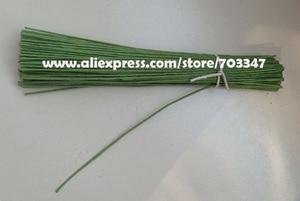 """Image 3 - Duży rabat!! 600 sztuk X 20 # miernik Floral macierzystych drutu 9.4 """"w zielony i biały"""