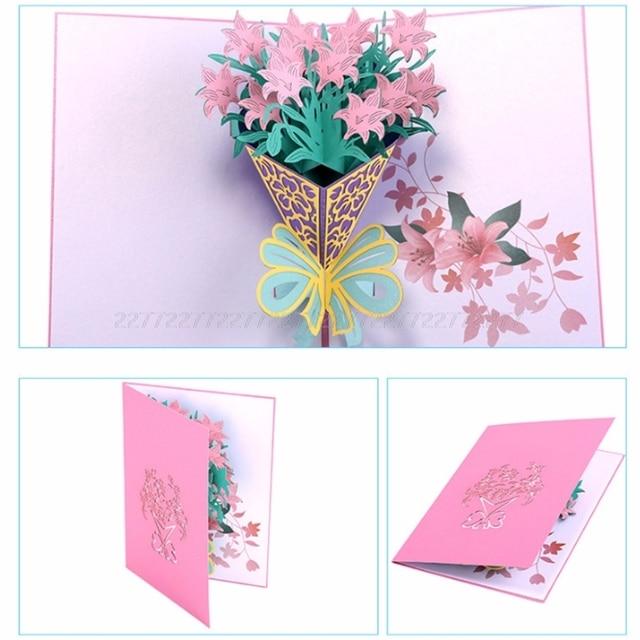 Carnation Greeting Cards Handmade Birthday Wedding Invitation 3d Pop
